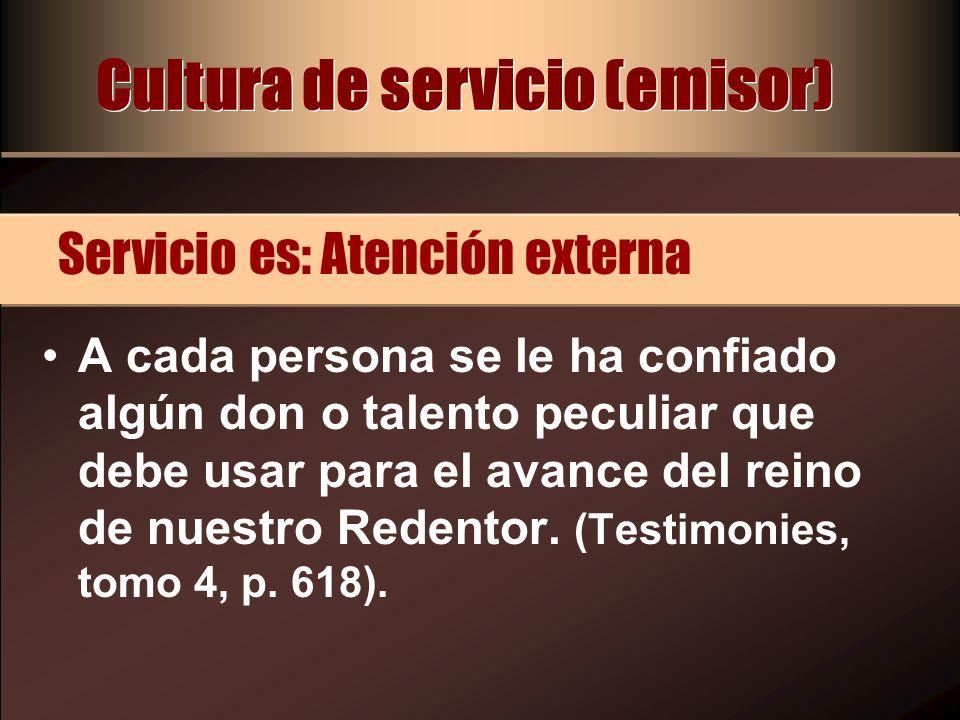Cultura de servicio (emisor)