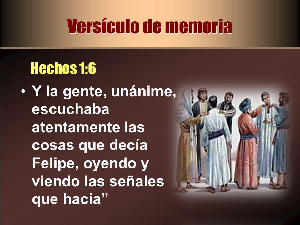 Versículo de memoria Hechos 1:6