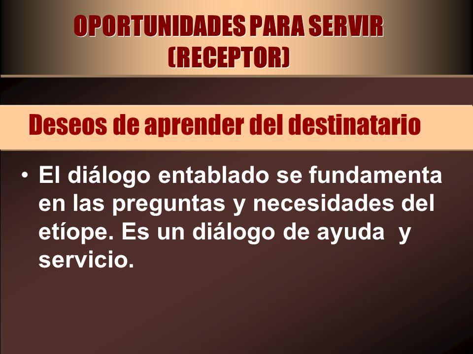 OPORTUNIDADES PARA SERVIR (RECEPTOR)