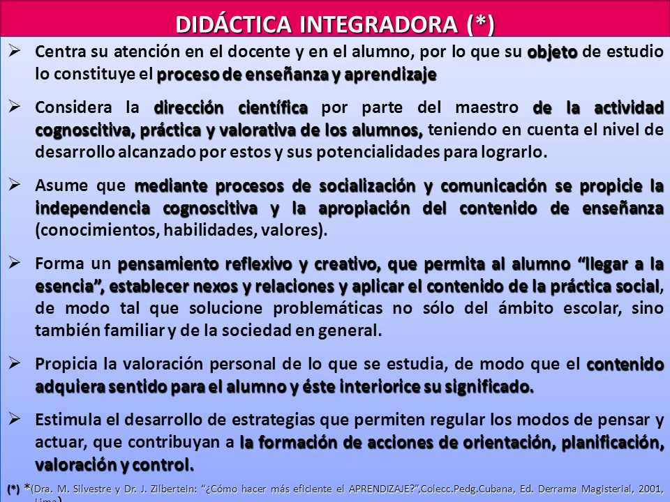 DIDÁCTICA INTEGRADORA (*)