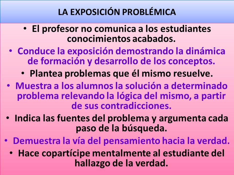 LA EXPOSICIÓN PROBLÉMICA