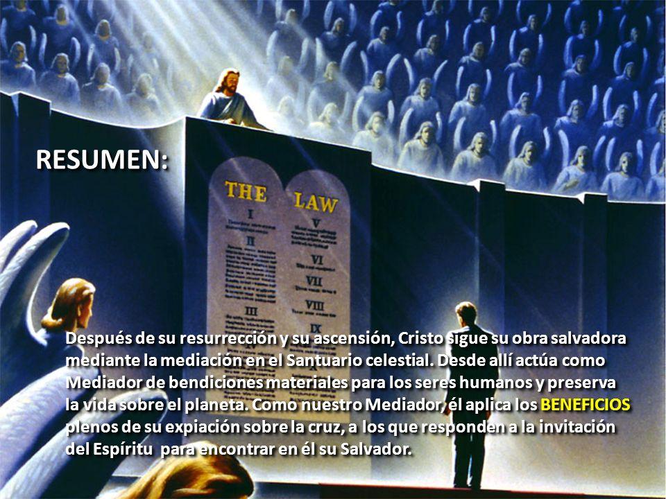 RESUMEN: Después de su resurrección y su ascensión, Cristo sigue su obra salvadora.