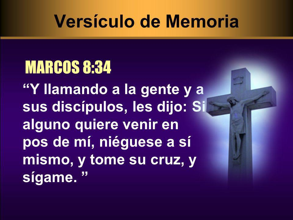 Versículo de Memoria MARCOS 8:34