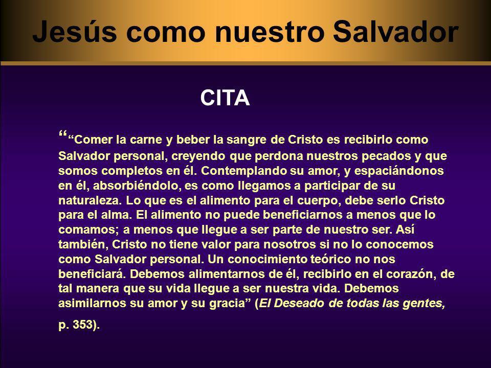 Jesús como nuestro Salvador