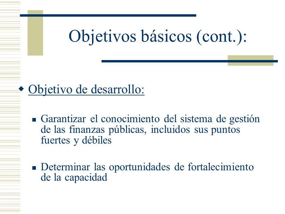Objetivos básicos (cont.):
