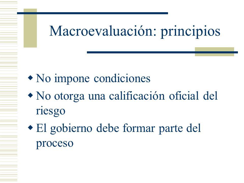 Macroevaluación: principios