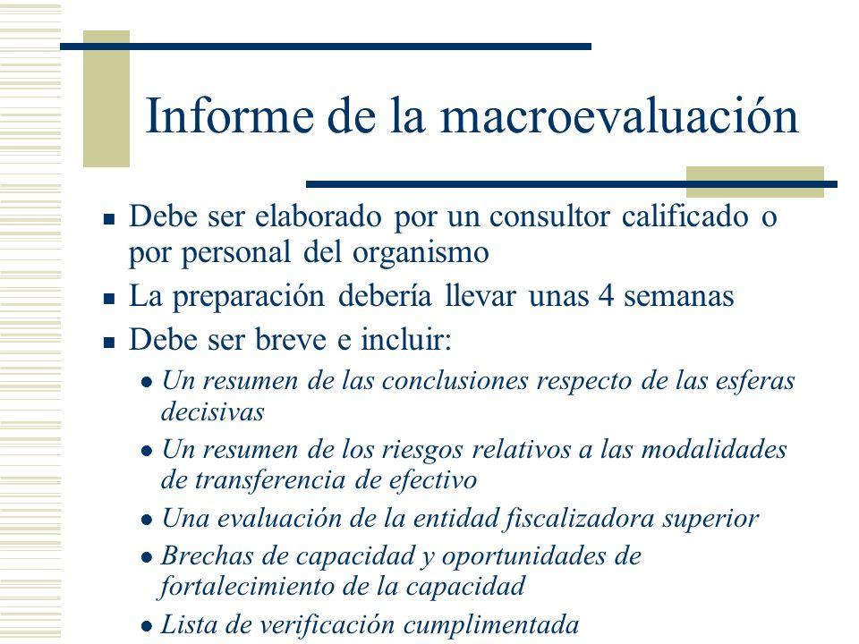 Informe de la macroevaluación