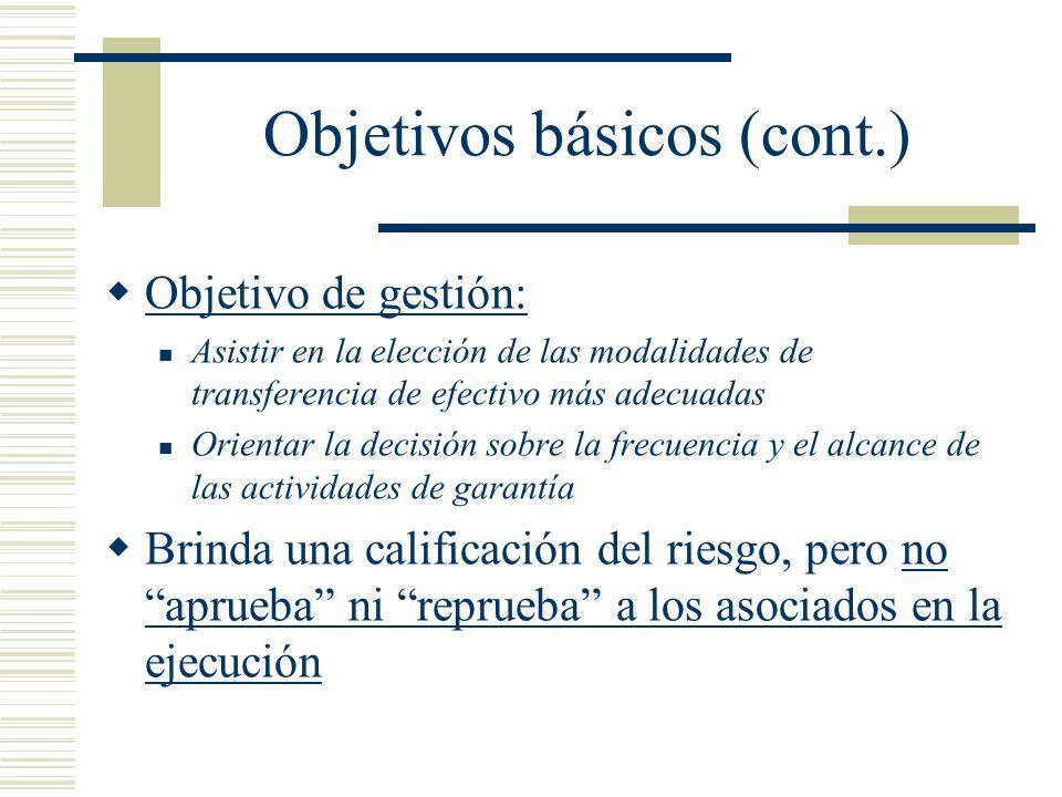 Objetivos básicos (cont.)