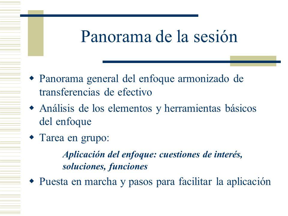 Panorama de la sesión Panorama general del enfoque armonizado de transferencias de efectivo.