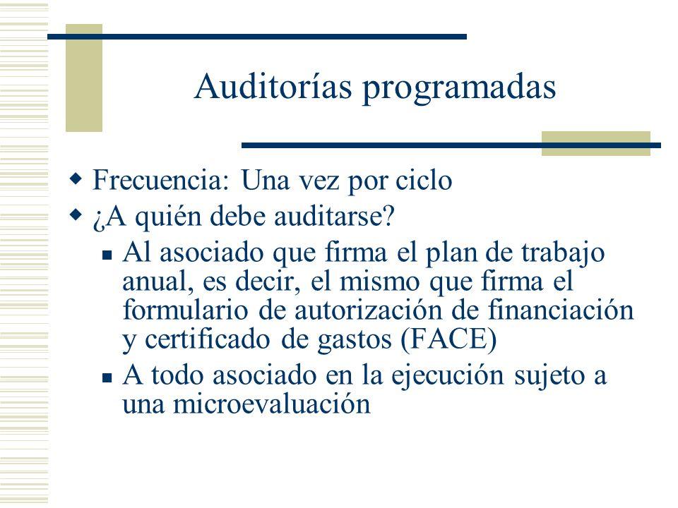 Auditorías programadas