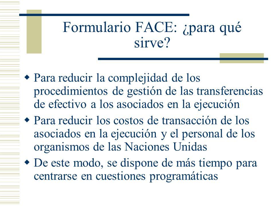 Formulario FACE: ¿para qué sirve