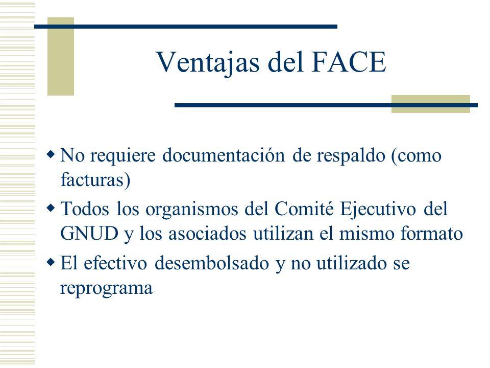 Ventajas del FACENo requiere documentación de respaldo (como facturas)