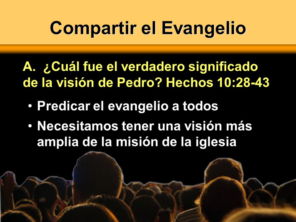 Compartir el Evangelio