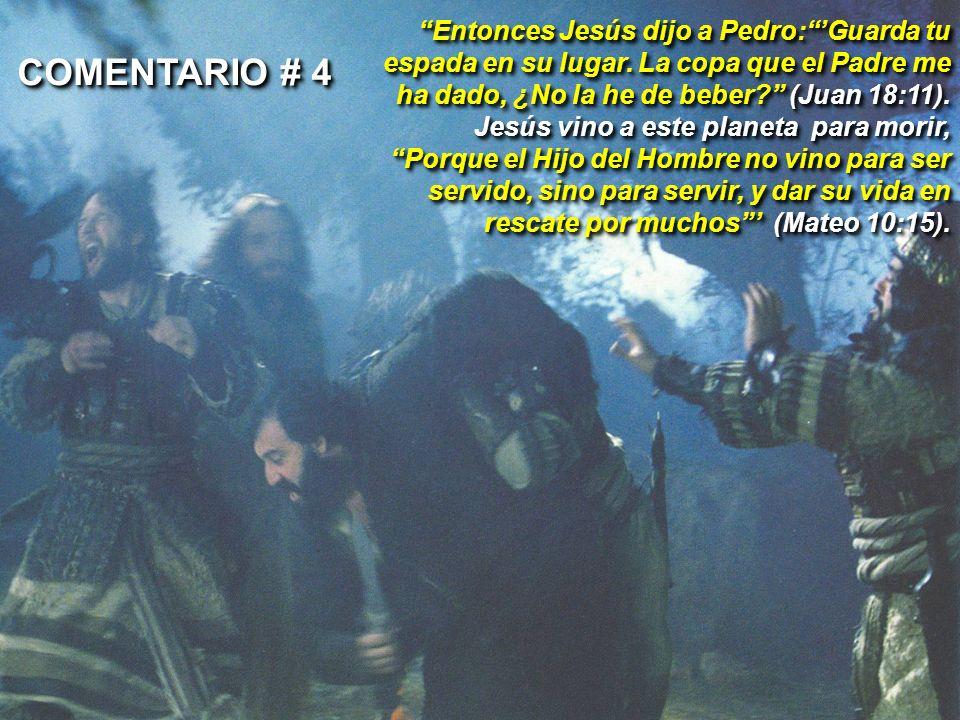 Entonces Jesús dijo a Pedro: 'Guarda tu espada en su lugar