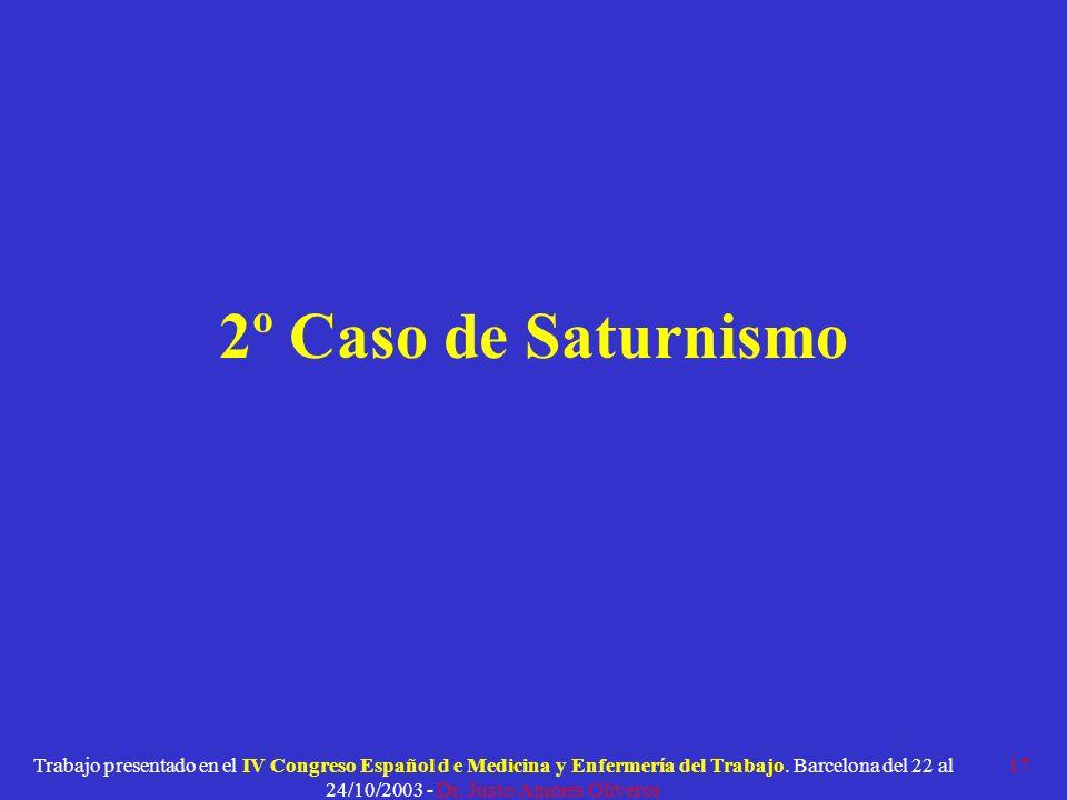 2º Caso de Saturnismo
