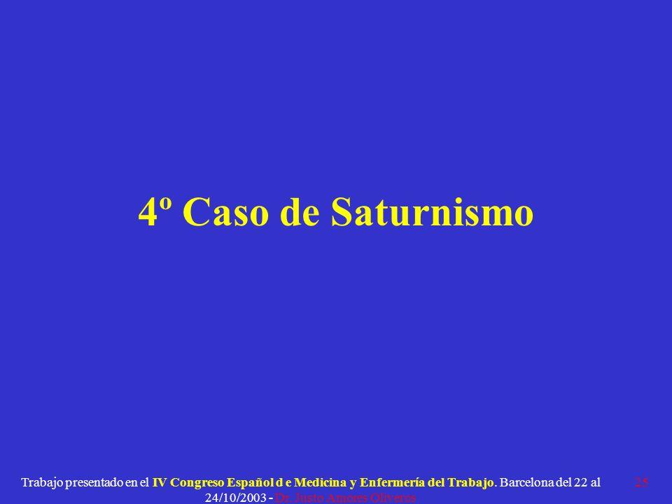4º Caso de Saturnismo
