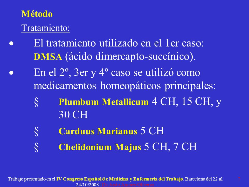 § Plumbum Metallicum 4 CH, 15 CH, y 30 CH § Carduus Marianus 5 CH