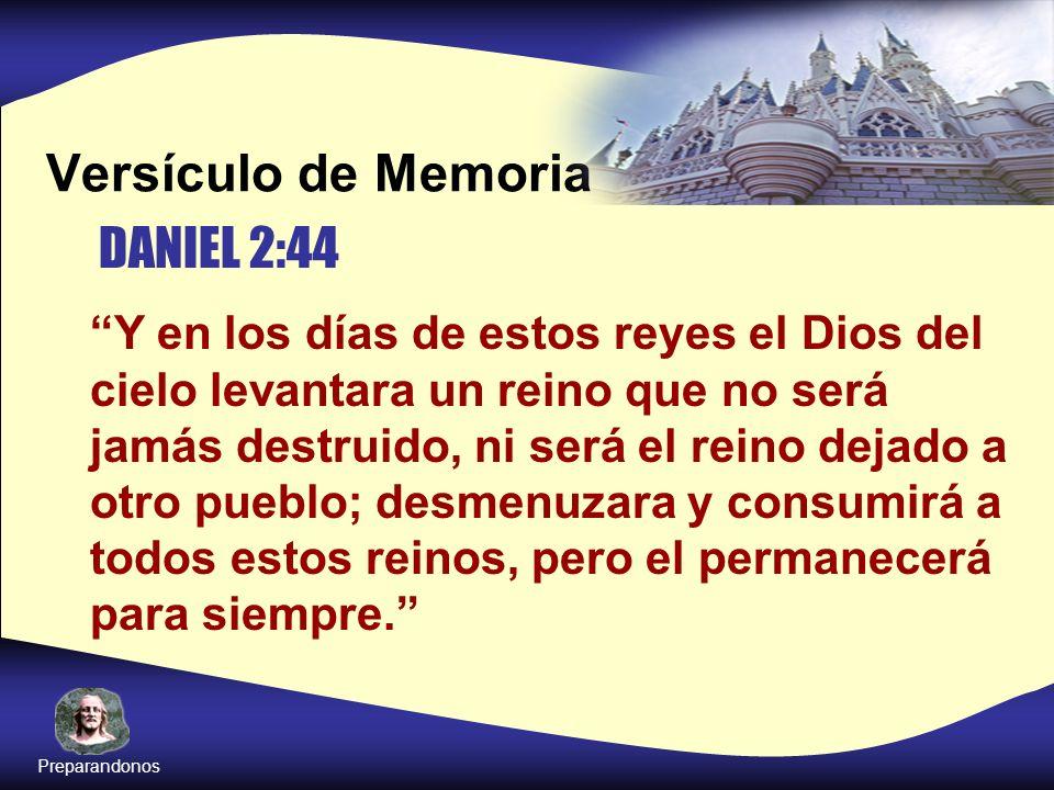 Versículo de Memoria DANIEL 2:44