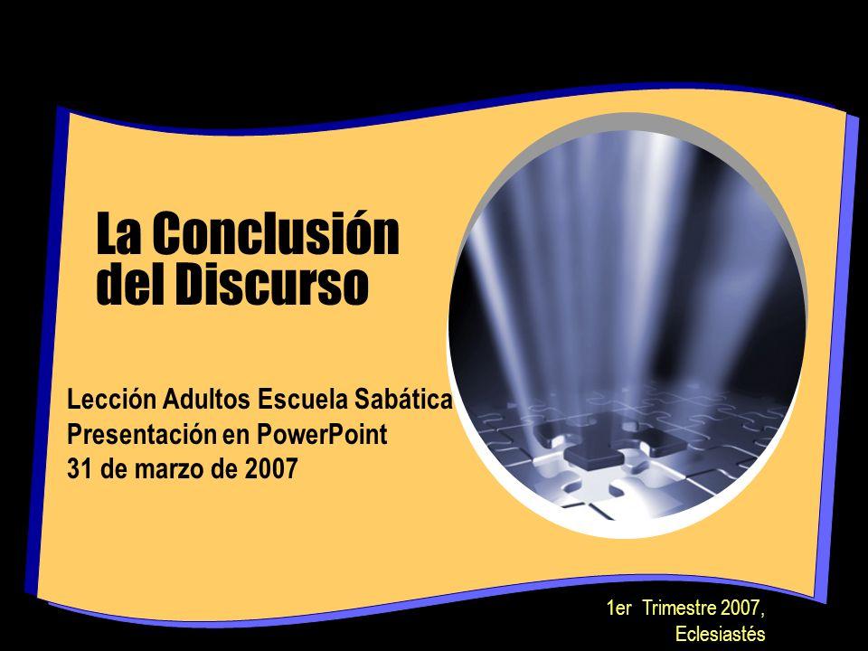 La Conclusión del Discurso
