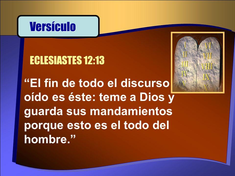 Versículo ECLESIASTES 12:13.