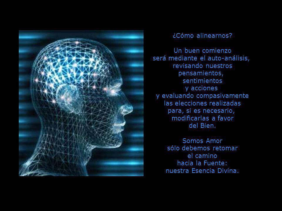 será mediante el auto-análisis, revisando nuestros pensamientos,