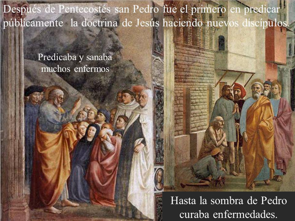 Hasta la sombra de Pedro curaba enfermedades.
