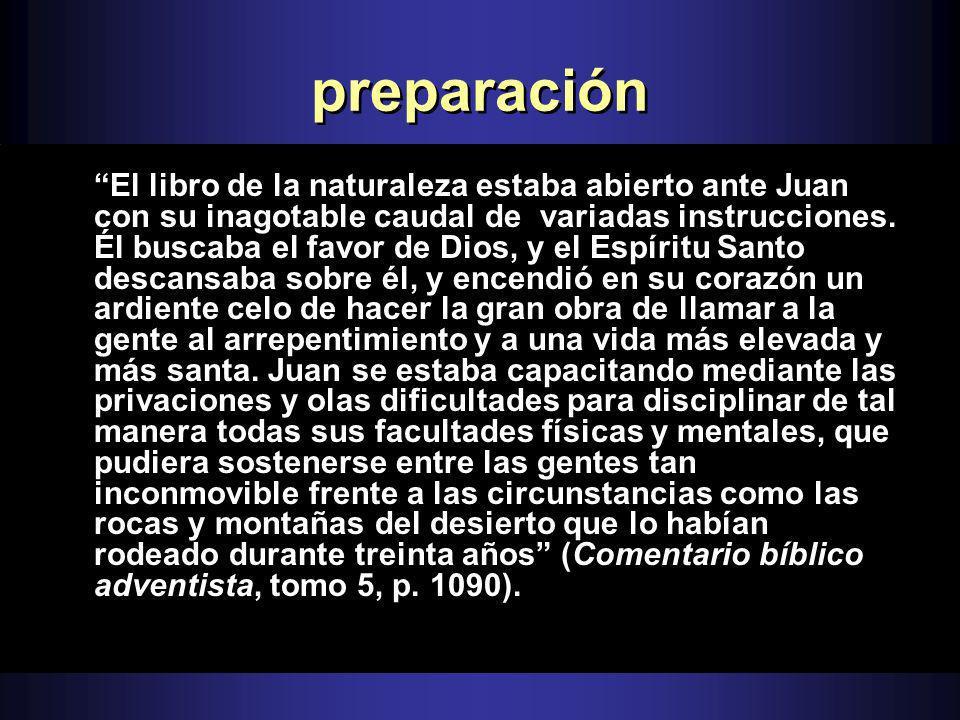 preparación