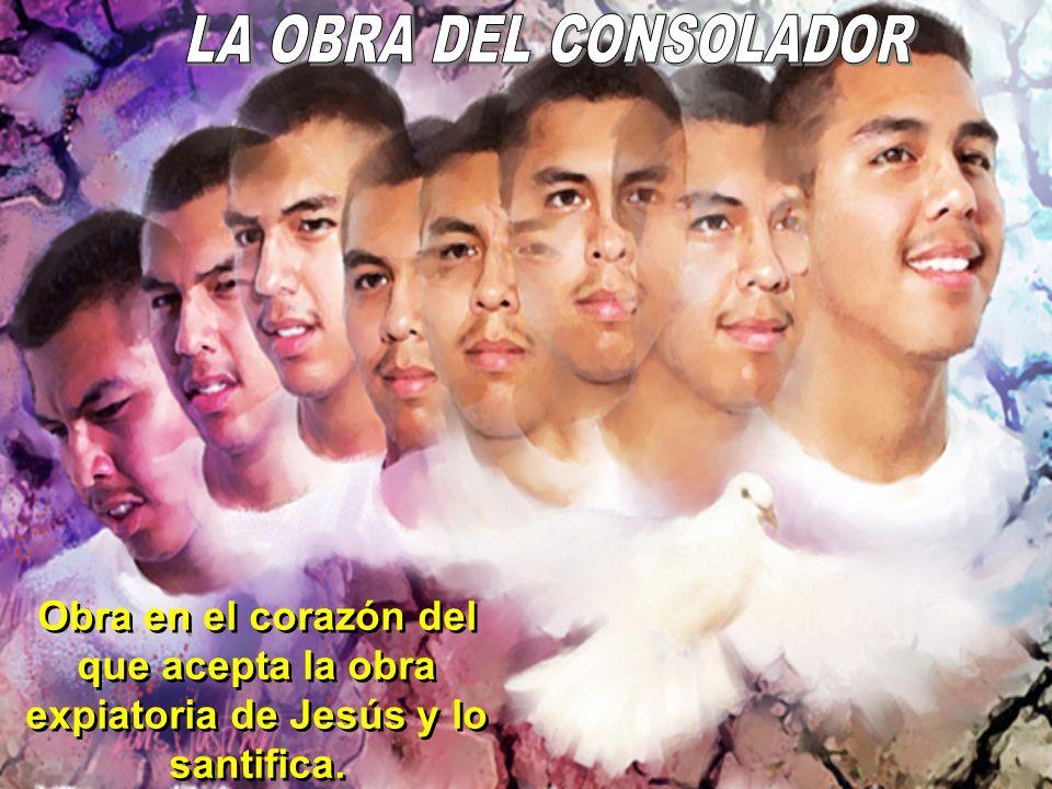 LA OBRA DEL CONSOLADOR Obra en el corazón del que acepta la obra expiatoria de Jesús y lo santifica.