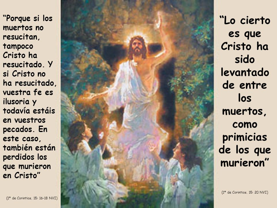 Porque si los muertos no resucitan, tampoco Cristo ha resucitado