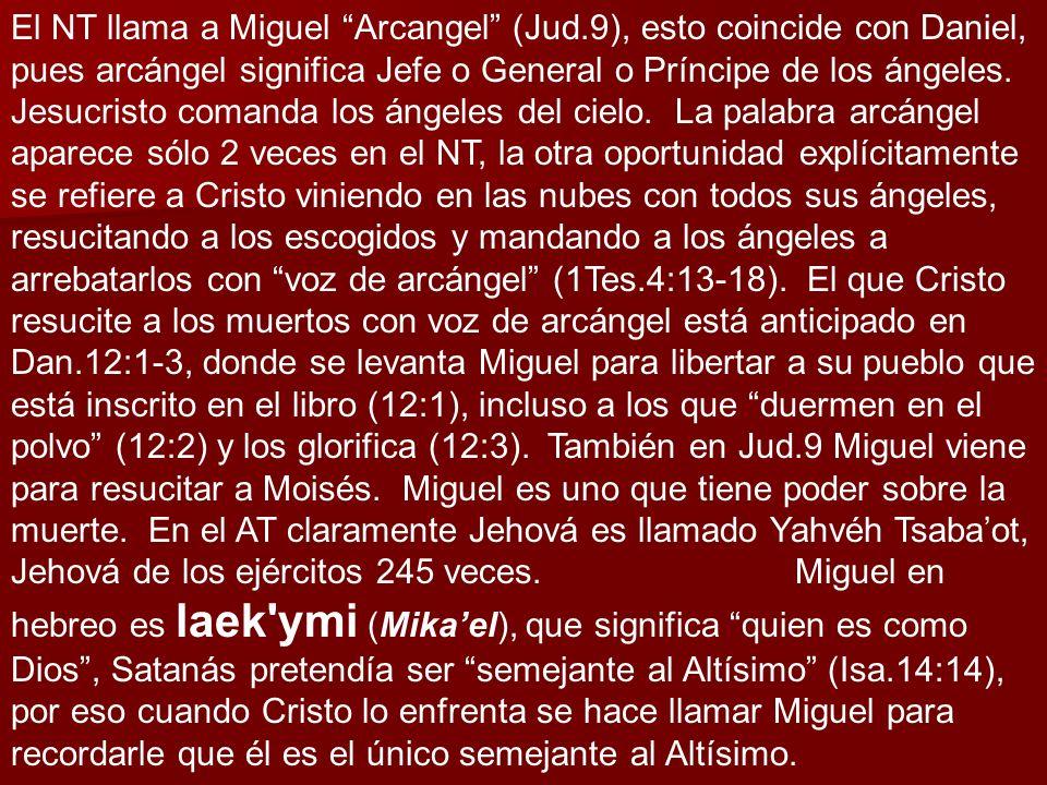 El NT llama a Miguel Arcangel (Jud