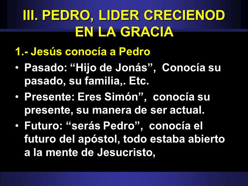 III. PEDRO, LIDER CRECIENOD EN LA GRACIA
