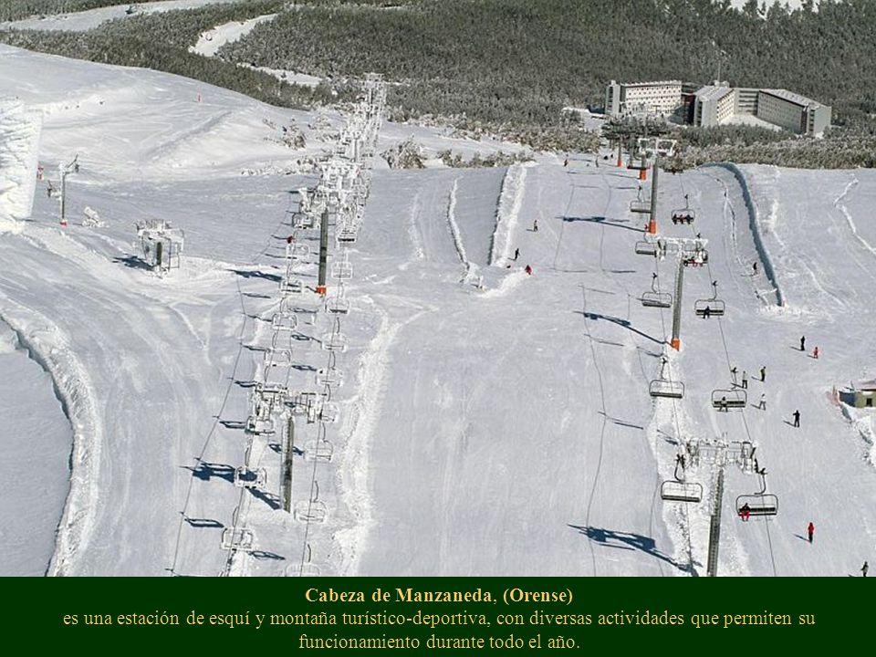 Cabeza de Manzaneda, (Orense) es una estación de esquí y montaña turístico-deportiva, con diversas actividades que permiten su funcionamiento durante todo el año.