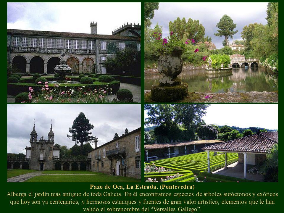 Pazo de Oca, La Estrada, (Pontevedra) Alberga el jardín más antiguo de toda Galicia.