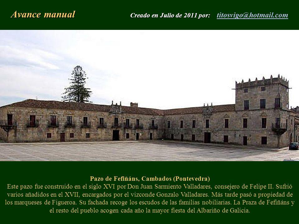 Avance manual Creado en Julio de 2011 por: titosvigo@hotmail.com
