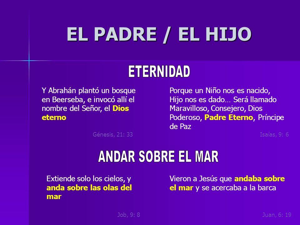 EL PADRE / EL HIJO ETERNIDAD ANDAR SOBRE EL MAR