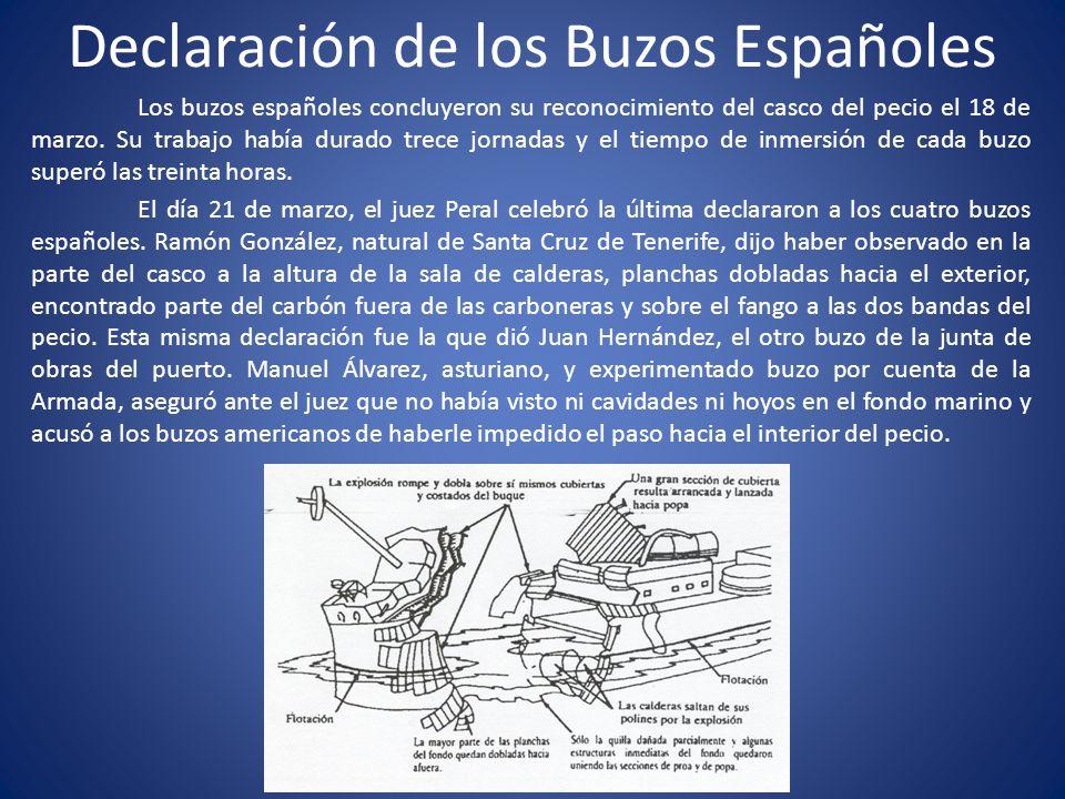 Declaración de los Buzos Españoles