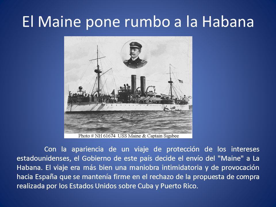 El Maine pone rumbo a la Habana