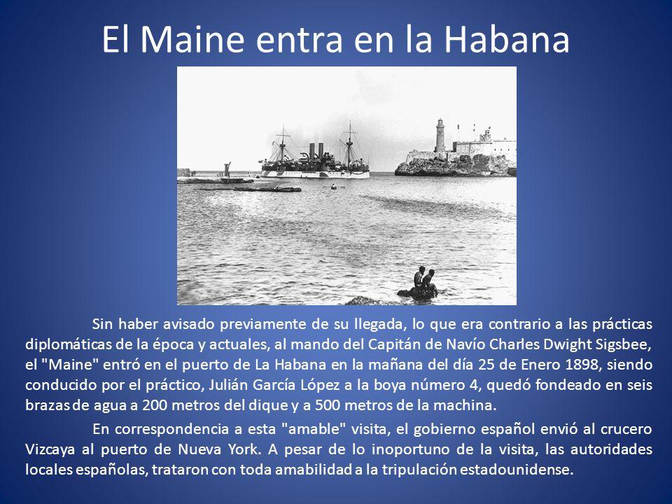 El Maine entra en la Habana