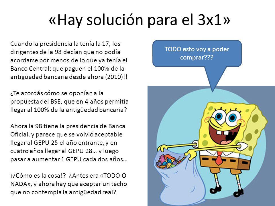 «Hay solución para el 3x1»