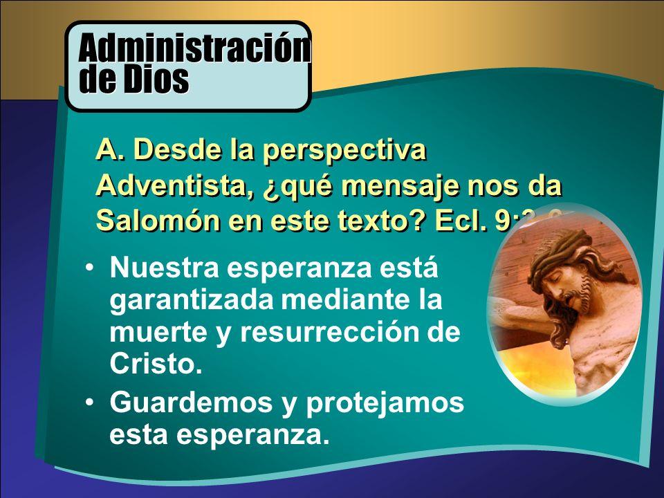 Administración de Dios