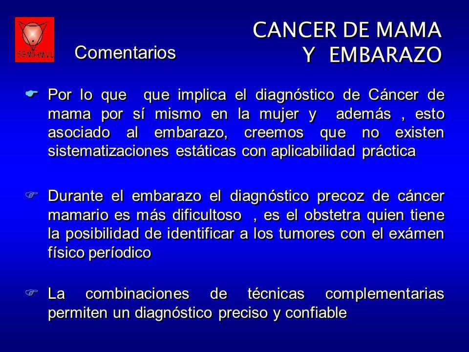 CANCER DE MAMA Y EMBARAZO Comentarios