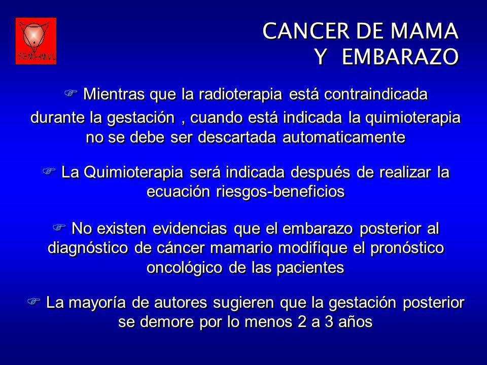Mientras que la radioterapia está contraindicada