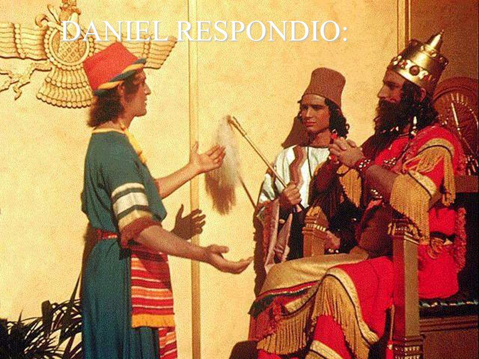 DANIEL RESPONDIO: