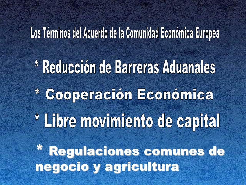* Regulaciones comunes de negocio y agricultura