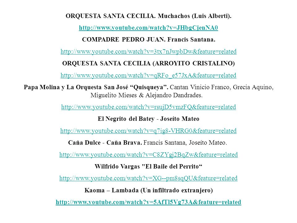 ORQUESTA SANTA CECILIA. Muchachos (Luis Alberti).