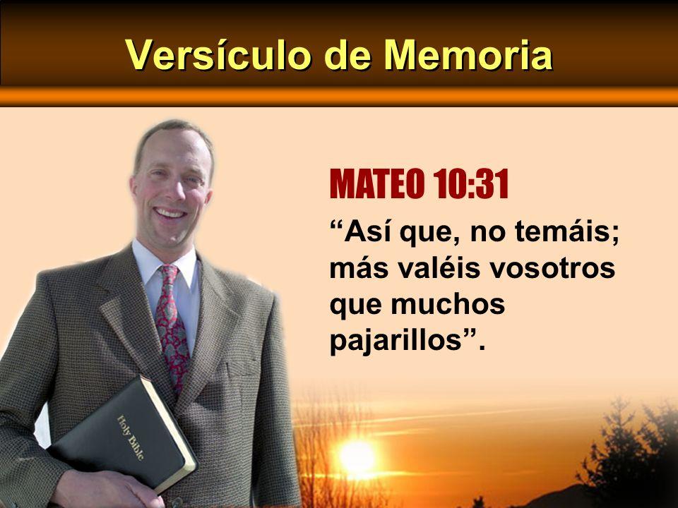 Versículo de Memoria MATEO 10:31