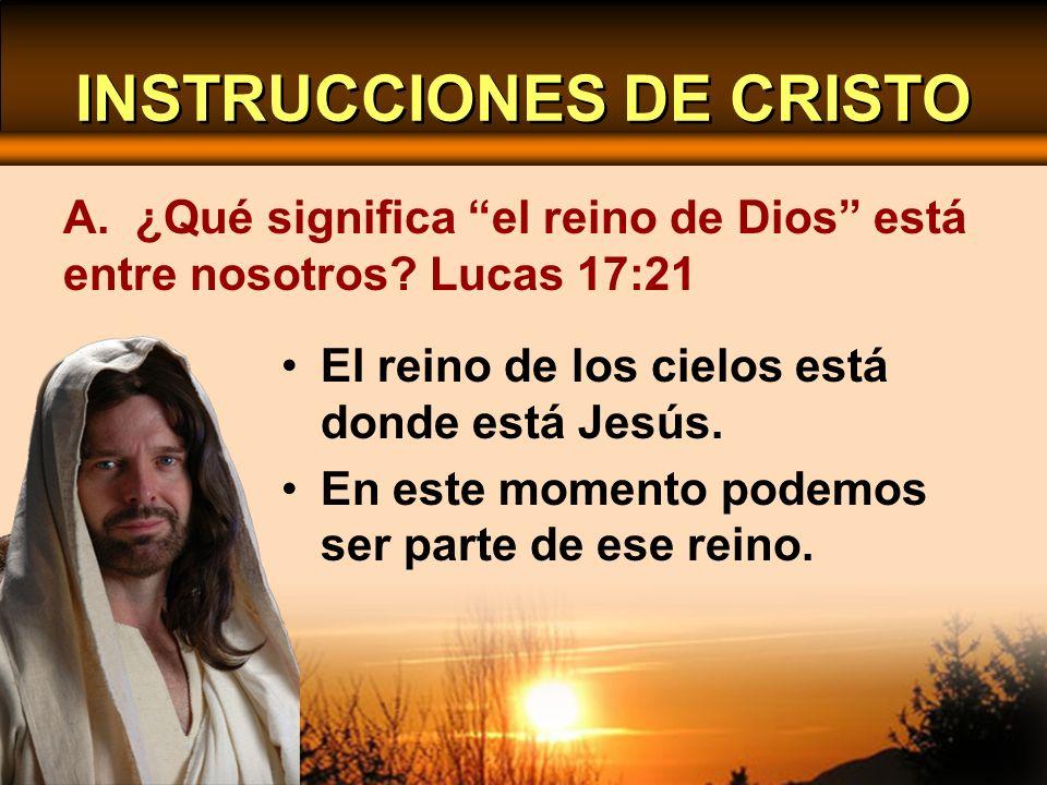 INSTRUCCIONES DE CRISTO