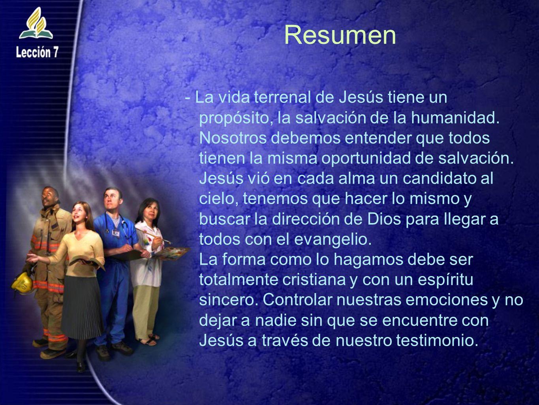Resumen - La vida terrenal de Jesús tiene un