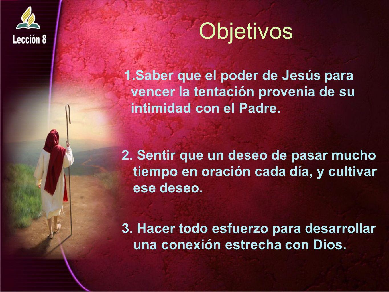 Objetivos Saber que el poder de Jesús para