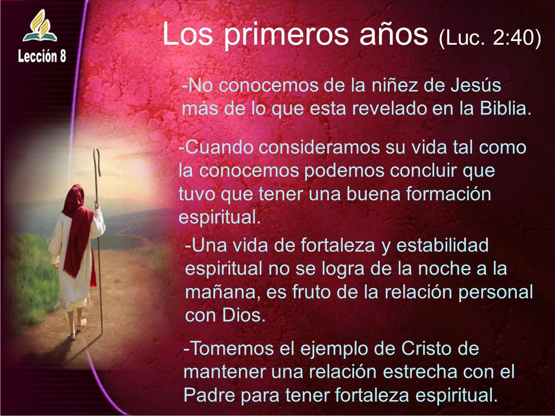 Los primeros años (Luc. 2:40)